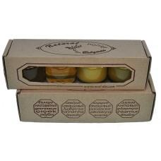 Подаръчен комплект от 4 вида мед